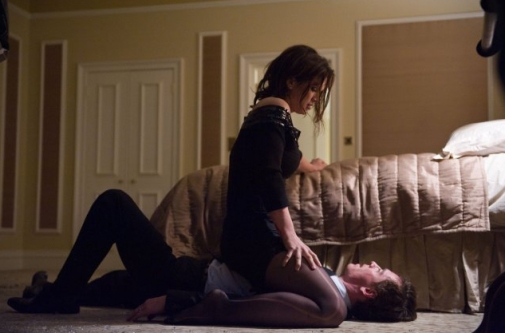 Gina Carano and Michael Fassbender in 'Haywire.'  credit: mmamania.com