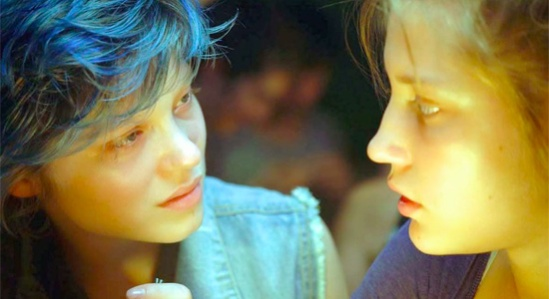 Léa Seydoux and Adèle Exarchopoulos in 'Blue Is The Warmest Color.'  credit: firstshowing.net