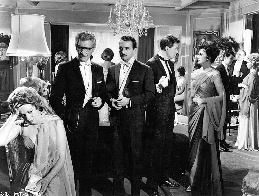 "Blanca, Dr. Conte, Colonel Alvaro, Julio and Lucia de Nobilé - ""The Exterminating Angel.""  credit:  cinephilefix.wordpress.com"
