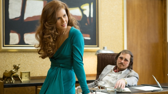 Amy Adams and Christian Bale in 'American Hustle.'   credit: domainehome.com