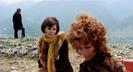 Floriana (Edwige Fenech) has some hairstyling tips for Irene (Anita Strindberg) in 'Your Vice Is A Locked Room...'  credit:20filmwords.wordpress.com